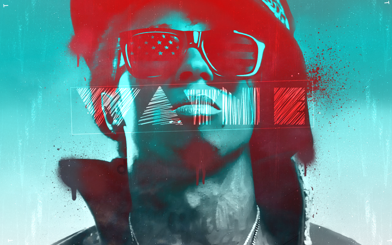 lil wayne spray paint style wallpaper | dieboltdesigns