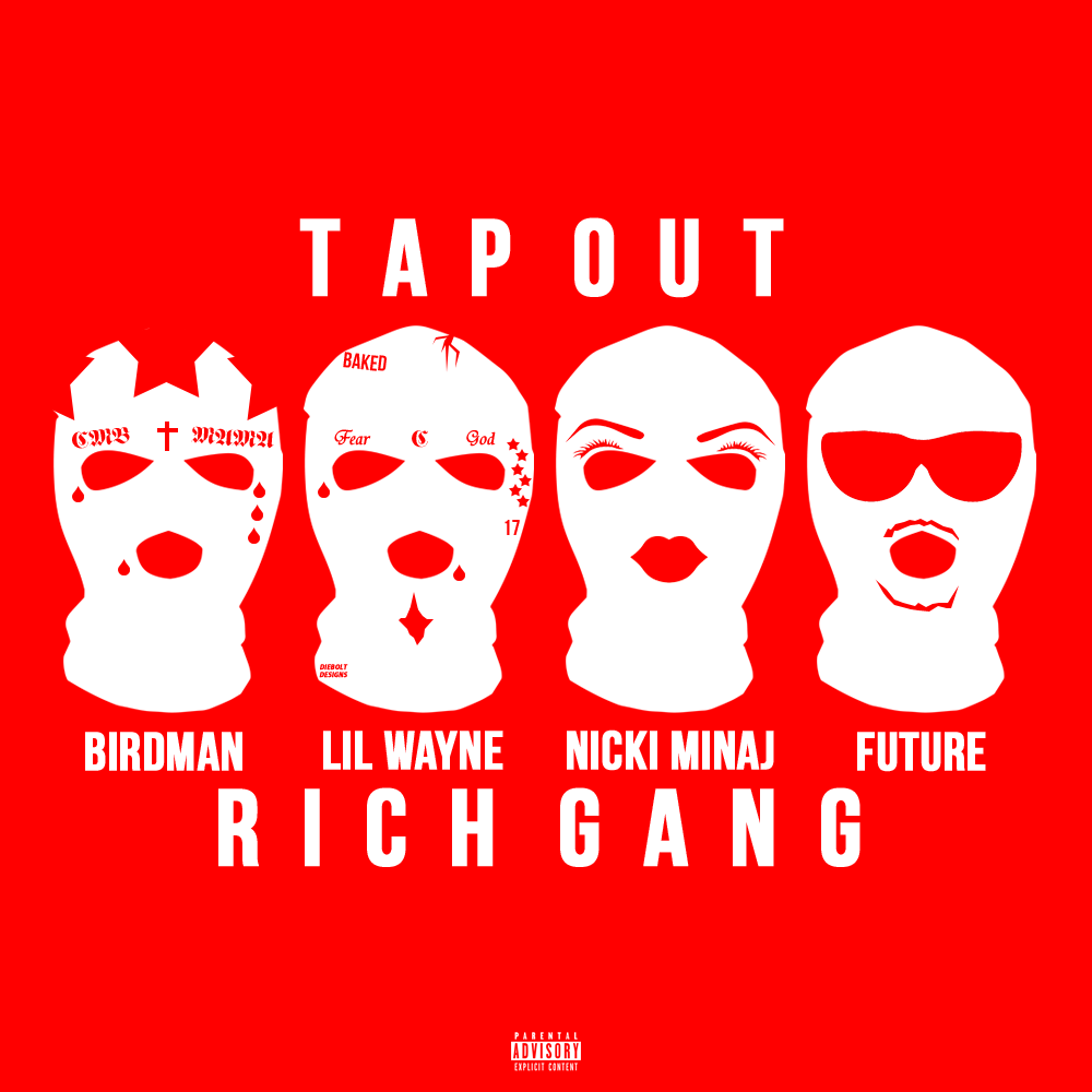 Sometime Later Today Birdman Is Dropping The First Rich Gang Single Featuring Himself Weezy Nicki And Future I Slept On Idea For Cover Had