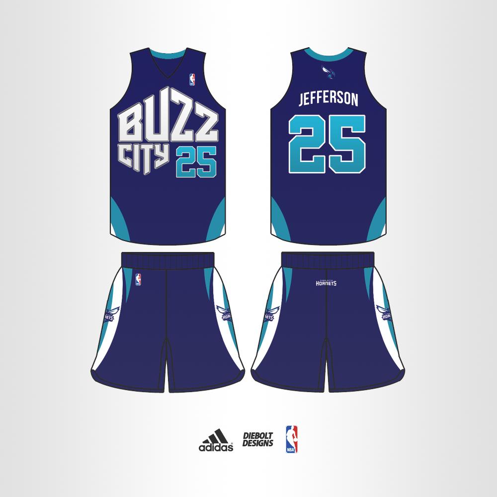 "113ada149c58 Charlotte Hornets ""Buzz City"" Alt. Uniform Concept. buzzcityalt"
