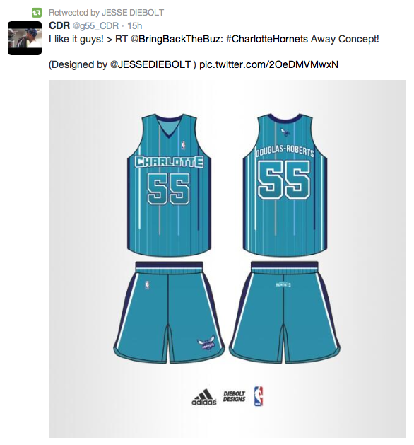 fdd1b92a35d7 Charlotte Hornets Home   Away Uniform Concepts